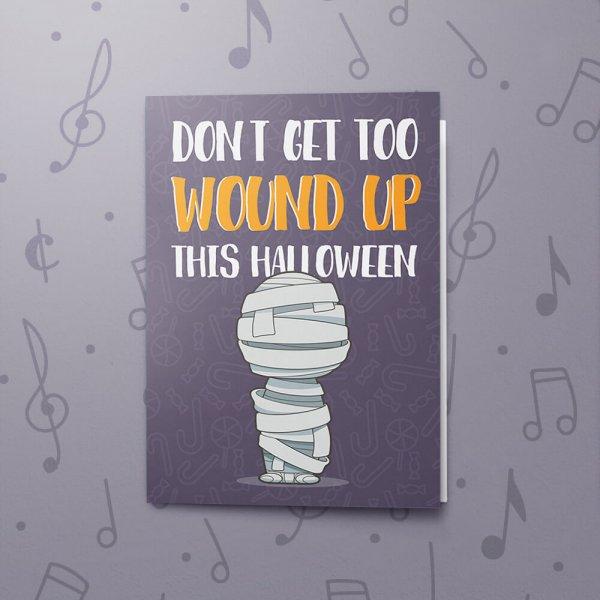 Wound Up – Musical Halloween Card
