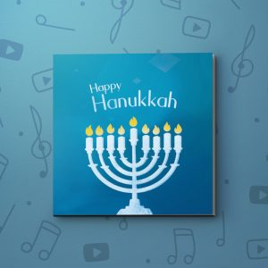 Menorah – Hanukkah Video Greeting Card