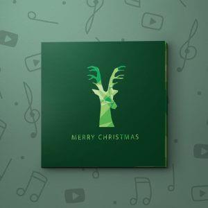 Green Christmas Reindeer – Christmas Video Greeting Card