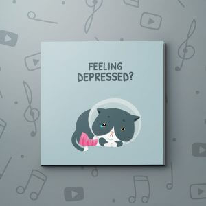 Depressed Cat – Get Well Video Greeting Card