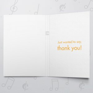 Thank You – Musical Thank You Card
