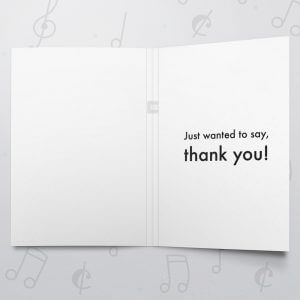 Bold Thank You – Musical Thank You Card