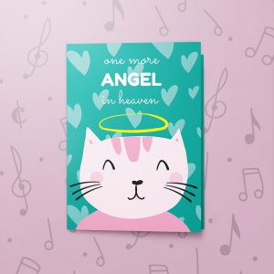 Cat Heaven – Musical Sympathy Card