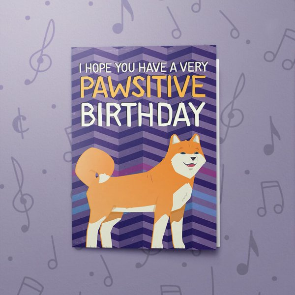 Surprising Pawsitive Birthday Musical Birthday Card Bigdawgs Greetings Personalised Birthday Cards Cominlily Jamesorg