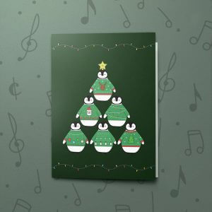 Penguin Christmas Tree – Musical Christmas Card