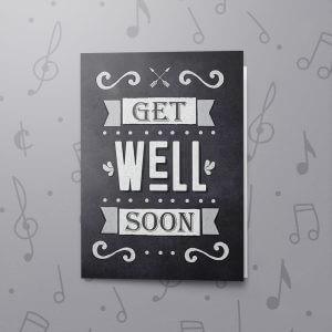 Chalkboard Get Well Soon – Musical Get Well Card
