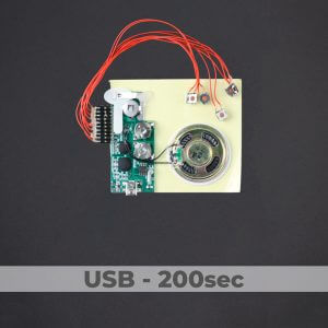 USB Programmed - 5 Button Sound Module - 200 Sec