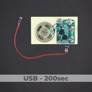 USB Programmed - Light Activated Sound Module - 200 Sec