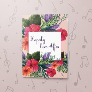 Happily Ever After – Musical Wedding Card