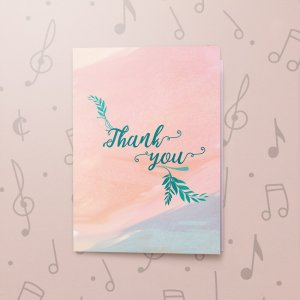 Floral Thank You – Musical Thank You Card