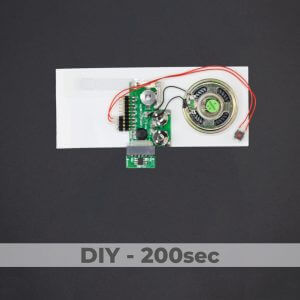 DIY Kit - Greeting Card Sound Module + 1 Button - 200 Sec