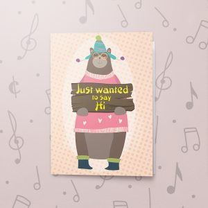 Saying Hi – Musical Just Because Card