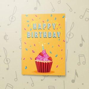 Happy Birthday Cupcake – Musical Birthday Card