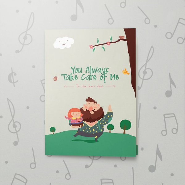 Always Take Care – Musical Father's Day Card
