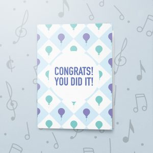 You Did It! – Musical Graduation Card
