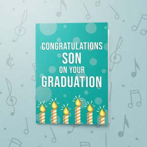 Congratulations Son – Musical Graduation Card