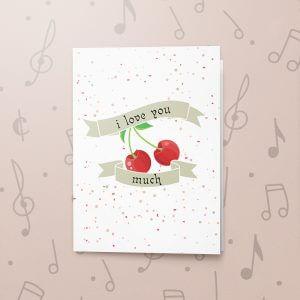 Cherry Love – Musical Love Card