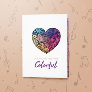 Colourful Heart – Musical Love Card
