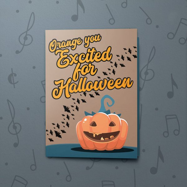 Excited Pumpkin – Musical Halloween Card