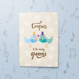 Congrats Grooms – Musical LGBT Wedding Card