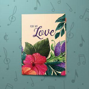 Valentines Floral – Musical Valentines Card