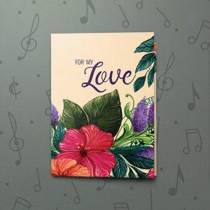 Love Floral – Musical Love Card