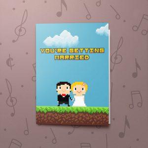 Pixel Wedding – Musical Wedding Card