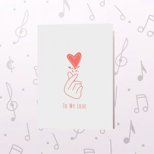 Fingers Heart – Musical Valentines Card