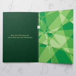 Christmas Dimensions Dark Green – Musical Christmas Card