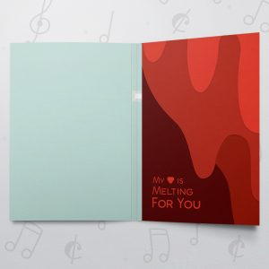Valentines Melting Heart  – Musical Valentines Card
