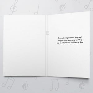 Yay a Boy – Musical Baby Card