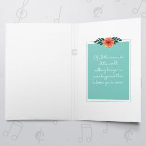 Luckiest son – Musical Mother's Day Card