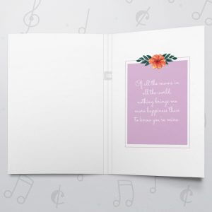 To mom – Musical Mother's Day Card