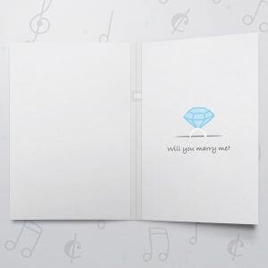 Wedding Ring Box – Musical Proposal Card