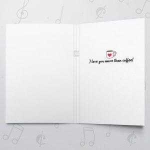 Where've you Bean – Musical Love Card