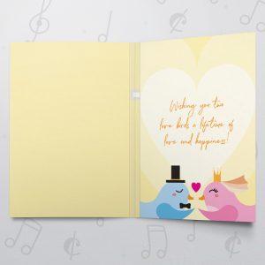 Congratulations Lovebirds – Musical Wedding Card