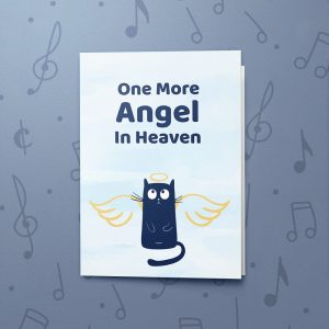 One More Angel – Cat – Musical Sympathy Card