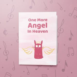 One More Angel – Rabbit – Musical Sympathy Card