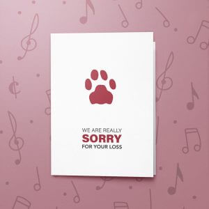 Pet Loss – Musical Sympathy Card
