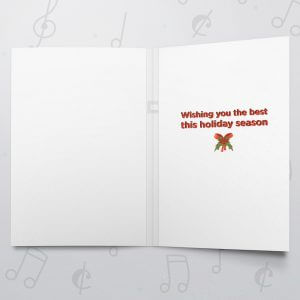 Season's Greetings – Musical Christmas Card