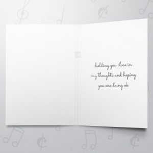 Sympathetic Heart – Musical Sympathy Card