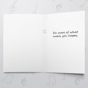 What Makes You Happy – Musical Retirement Card