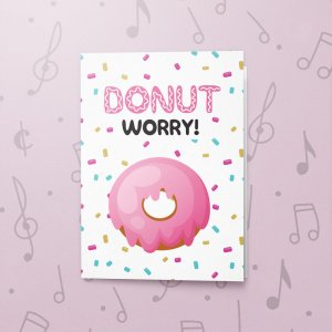 Donut Worry – Musical Good Luck Card