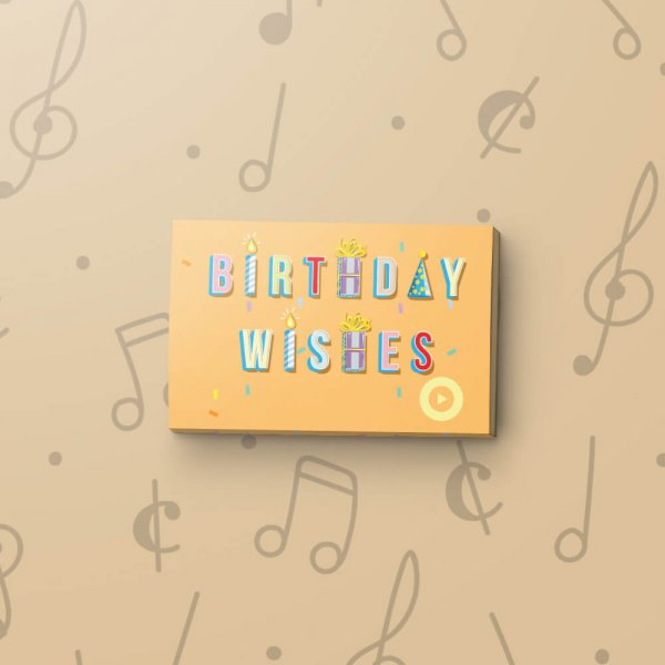 Birthday Wishes – Musical Gift Magnet