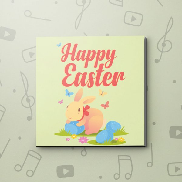 Colourful Rabbit – Easter Video Greeting Card