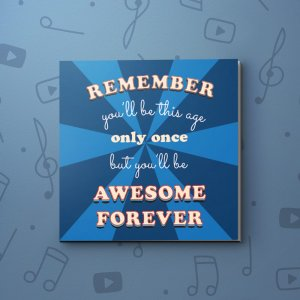Awesome Forever – Birthday Video Greeting Card