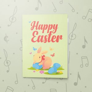Colourful Rabbit – Musical Easter Card