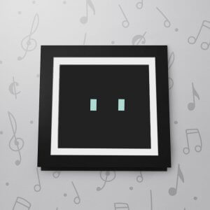 Blank Musical Photo Frame Card - 6 x 6 - Black