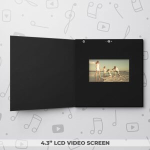 Blank Video Frame Card - Black