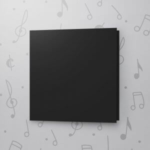 Blank Musical Greeting Card - Black - 6 x 6